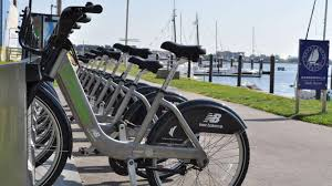 Boston Hubway Map by Hubway Bicycles Fan Pier Boston