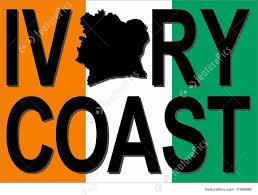 Ivory Coast Map Ivory Coast Text With Map Stock Illustration I1569860 At Featurepics