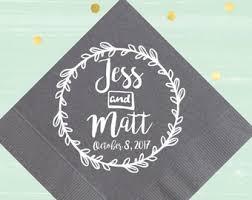 personalized napkins etsy