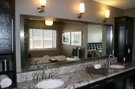 bathroom wood framed mirrors large framed bathroom mirrors