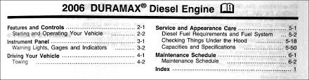 2006 chevy and gmc duramax diesel owners manual supplement