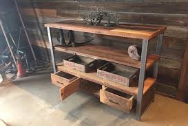 Reclaimed Wood Console Table Tall Reclaimed Wood Media Console U0026 Shelving Unit What We Make