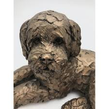 frith sculpture ozzy laying cockapoo present days shop