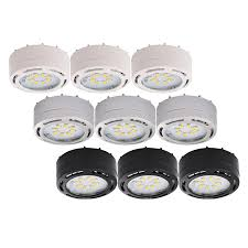 under cabinet led puck lighting 120 volt led puck lights 3 pk eco energy management