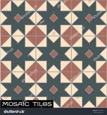Victorian Mosaic Floor Tiles Vintage Victorian Terrace House Floor Tiles Stock Vector 515073520