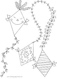 kite color printalbe coloring pages kids