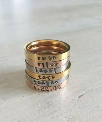 stacking name rings the 25 best name rings ideas on stackable name rings