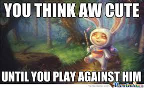 league o f legends teemo bunny meme by maartenb1000 meme center