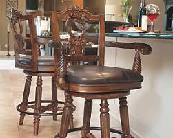 Wood Bar Stool With Back Bar Stools Ashley Furniture Homestore