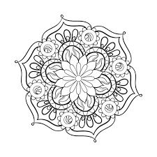 free printable mandala coloring pages adults free