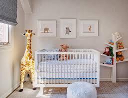 Baby Nursery Bookshelf Boy Nursery With Faux Bois Wallpaper And Babyletto Spruce Tree