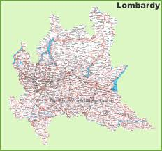 Map Of Italy With Cities by Large Detailed Map Of Lombardy With Cities And Towns