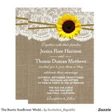 sunflower wedding invitations amazing diy sunflower wedding invitations and the rustic sunflower