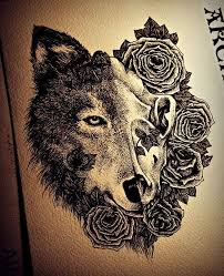 half wolf the other half be a same size with some petals