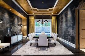Decorating Ideas Dining Room 15 Refined Decorating Ideas In Glittering Black And Gold
