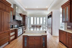 stained kitchen cabinets with hardwood floors 43 kitchens with extensive wood throughout home