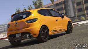 renault orange renault clio iv rs 2013 add on replace tuning template