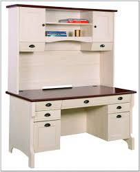 desk with hutch white 5 outstanding for sauder harbor view