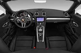 porsche convertible white 2017 porsche 718 boxster cockpit interior photo automotive com