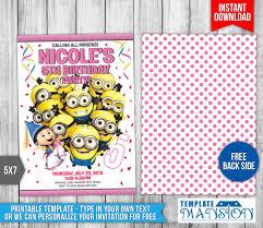 minion birthday party invites minions birthday invitation templates by templatemansion on deviantart