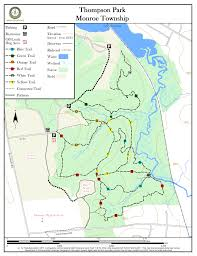 Map Of Middlesex County Nj Thompson Park New Jersey Trails Association