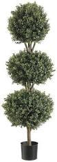 Real Topiary Trees For Sale - amazon com silk decor 4 feet tri ball boxwood topiary plant