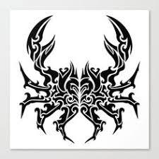 black ink tribal cancer tattoo design sabloane pinterest