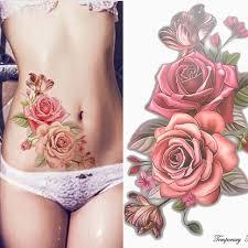 Big Flower Tattoos On - aliexpress com buy 1piece up temporary tattoos