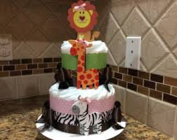 Safari Baby Shower Centerpiece by Safari Diaper Cake Safari Baby Shower Boy Baby Shower