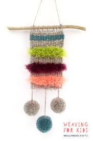 mollymoocrafts introducing weaving to kids