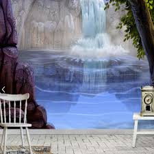 wall murals waterfalls promotion shop for promotional wall murals waterfall wall mural for living room bedroom wallpaper landscape papel mural 3d photo wallpaper papel de parede 3d custom size