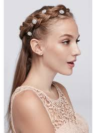 hair spirals flower hair spirals david s bridal