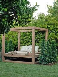 Diy Backyard Canopy Holden Canopy Outdoor Patio Daybed With Cushions Palo Verde Yard