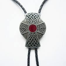 celtic iron cross bolo tie yippo accessories