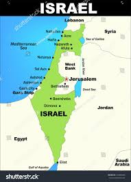 Map Of Isreal Vector Map Israel Saved Illustrator 80 Stock Vector 143869486