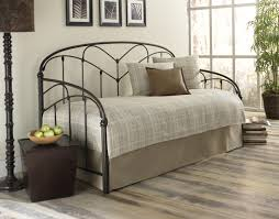 furniture modern iron full size day bed with trundle and large