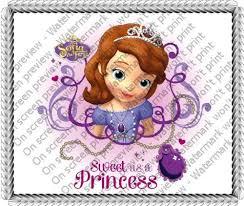 1 4 disney princess sofia birthday edible image cake