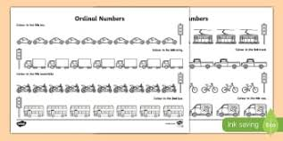 ordinal numbers primary maths resources page 1