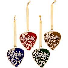 fender ornaments set of 4 various colors guitar