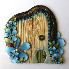 bee hive fairy door handmade by claybykim polymer clay miniature