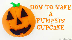 How To Make A Pumpkin Cupcake For Halloween She Who Bakes