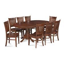shop m u0026d furniture somerville espresso dining set with oval dining