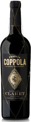 francis coppola claret diamond collection black label claret of 12
