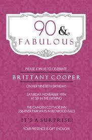 vintage rose illustration 90th birthday invitations pink