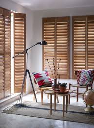 great for a scandi chic minimal modern space pale wood shutters