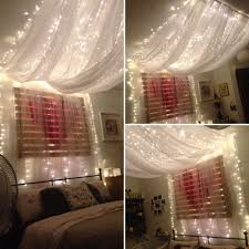 bed canopy with lights fairy light ceiling canopy home design