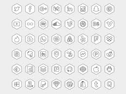 hexagonal icon set sketch freebie download free resource for