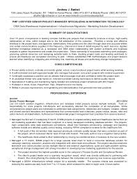 Sample It Project Manager Resume by Project Management Resume Project Manager Cv Example 6 Project