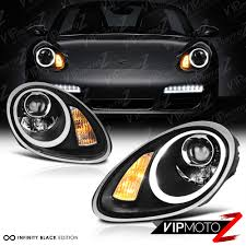 Porsche Boxster 2005 - 2005 2008 porsche 987 boxster cayman s black halogen led projector