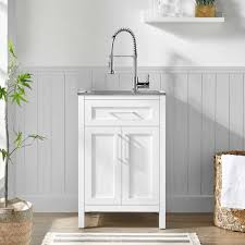 small kitchen sink and cabinet combo ove decors 22 utility sink with faucet cabinet
